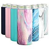 Simple Modern Skinny Can Cooler for Slim Beer & Hard Seltzer 12oz Insulated Stainless Steel Sleeve, Opal Tide