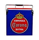 Corona Retro Ice Chest Cooler with Bottle Opener 13 L /14 Quart Vintage Style Ice Bucket for Beers, Camping, Picnic, Beach, RV, BBQs, Tailgating, Fishing