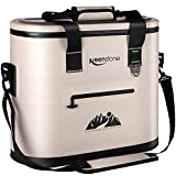 Soft Cooler Bag Insulated Soft Sided Cooler Portable Leakproof Cooler for Food Wine Ice Drinks, 36 Can Large Deep Coolers for Men Women Car Beach Park Camping Picnic Fishing Hiking Day Trip