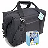 Polar Bear Coolers Nylon Series Soft Cooler Tote Size 24 Pack & Fit & Fresh Cool Coolers Slim Ice 4-Pack