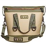 YETI Hopper Two 20 Portable Cooler, Field Tan / Blaze Orange