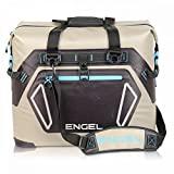 Engel Coolers High Performance 30 Liter Waterproof Soft Sided Cooler Tan Bag with Adjustable Shoulder Strap, Bottle Opener, & Water Resistant Fabric