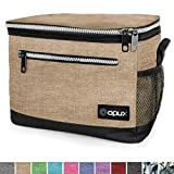 OPUX Premium Lunch Box, Insulated Lunch Bag for Men Women Adult   Durable School Lunch Pail for Boys, Girls, Kids   Soft Leakproof Medium Lunch Cooler Tote for Work Office   Fits 8 Cans (H Taupe)