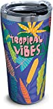 Tervis Tropical Vibes Stainless Steel Insulated Tumbler with Lid, 20 oz, Silver