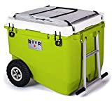 RovR Wheeled Camping Rolling Cooler with Wheels 80 qt (Desert)