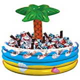Amscan Palm Tree Oasis Inflatable Party Cooler, 28.5' x 26.5'