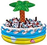 Palm Tree Oasis Inflatable Party Cooler, 14' x 29.5'