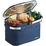 VonShef Foldable 22L Insulated Large Cooler Bag - Navy