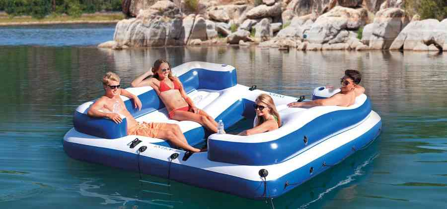 inflatable floating cooler