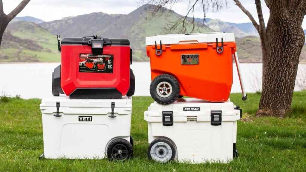Portable coolers with wheels