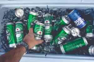 Beer in a portable cooler