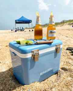 Engel coolers on the beach